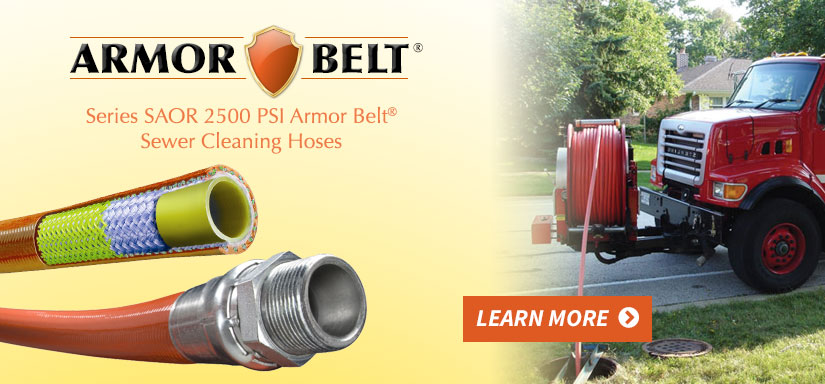 Armor Belt® Series SAOR 2500 PSI Sewer Cleaning Hose - Learn More